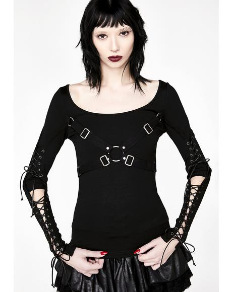 Punk Hallow-Out Long Sleeve T-Shirt
