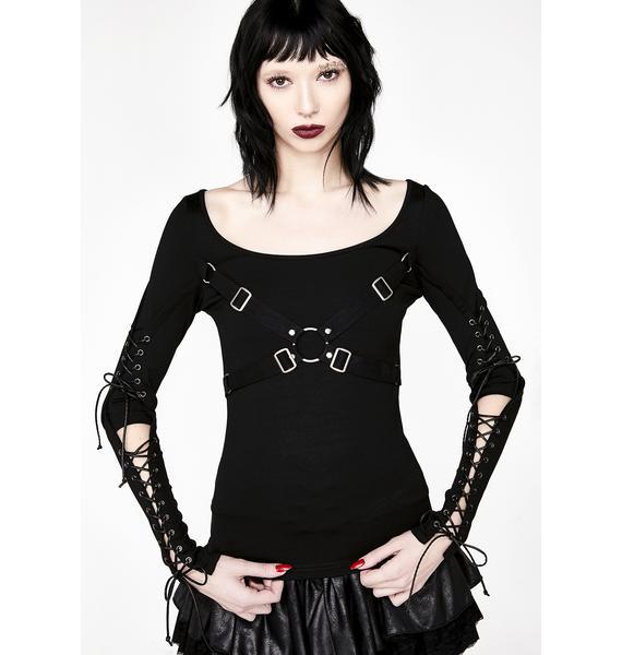 Punk Rave Punk Hallow-Out Long Sleeve T-Shirt