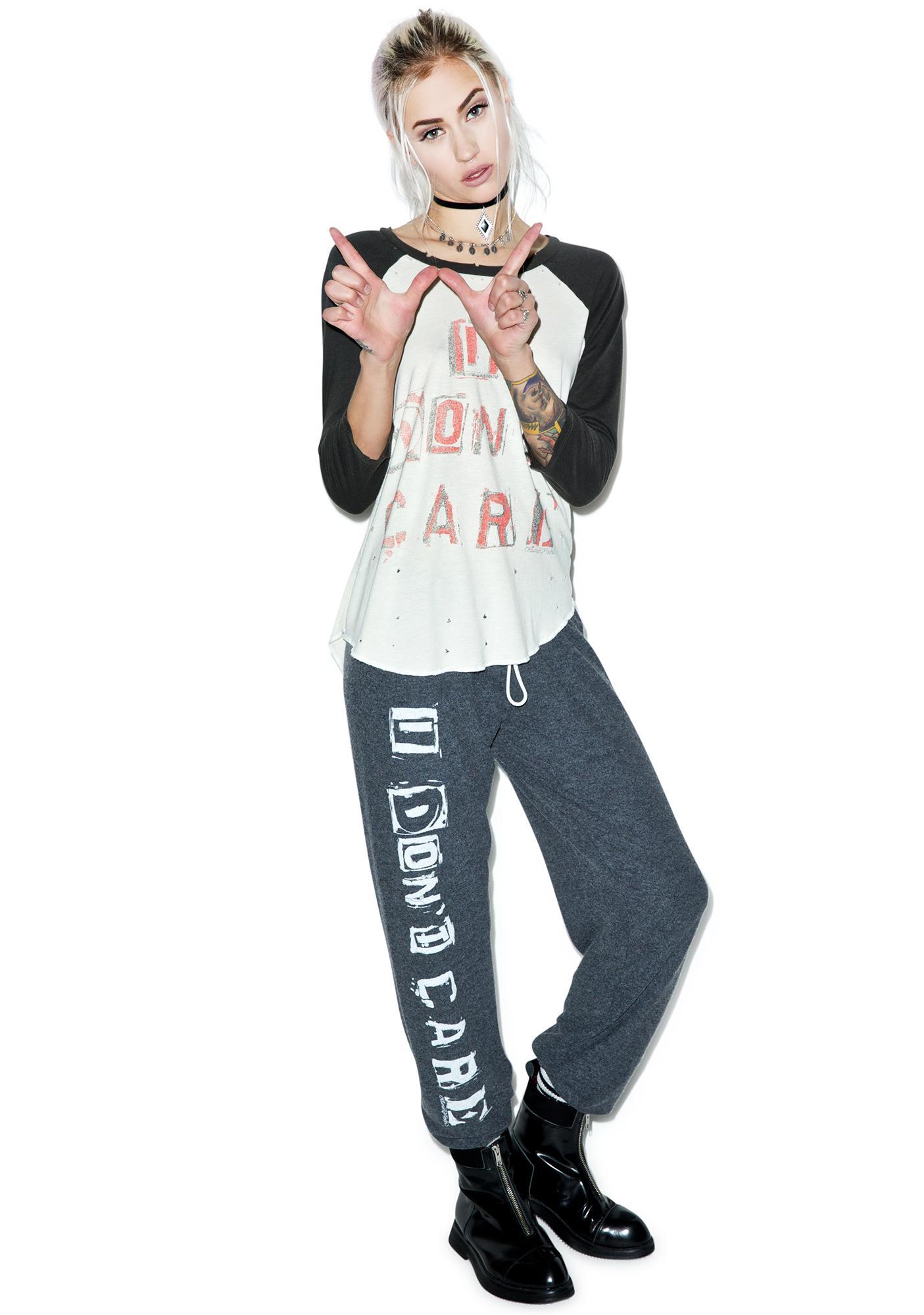 Lauren Moshi I Don't Care Tanzy Sweat Pants
