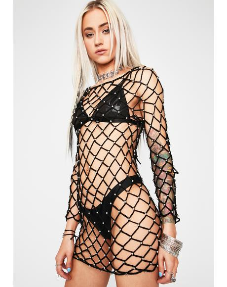 Desert Drifter Fishnet Dress