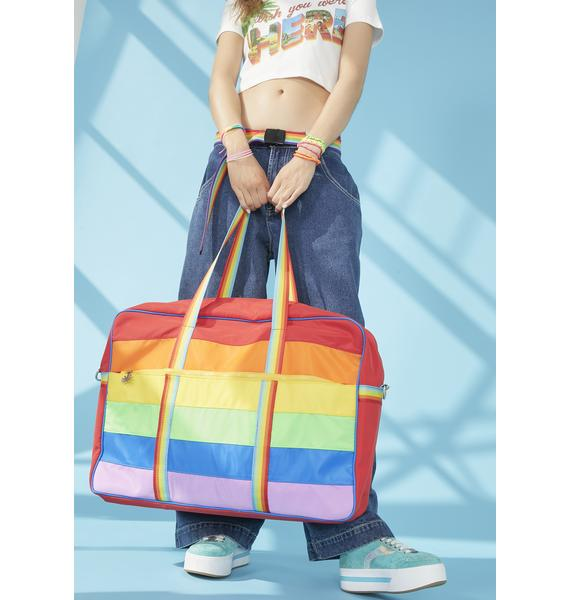 dELiA*s by Dolls Kill Follow The Rainbow Weekender Bag