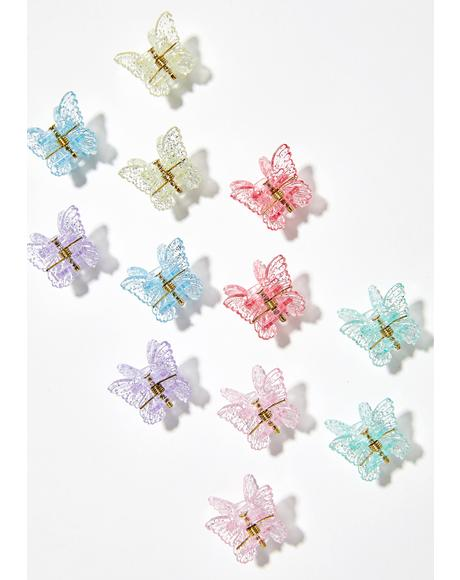 Sugar Butterfly Clips
