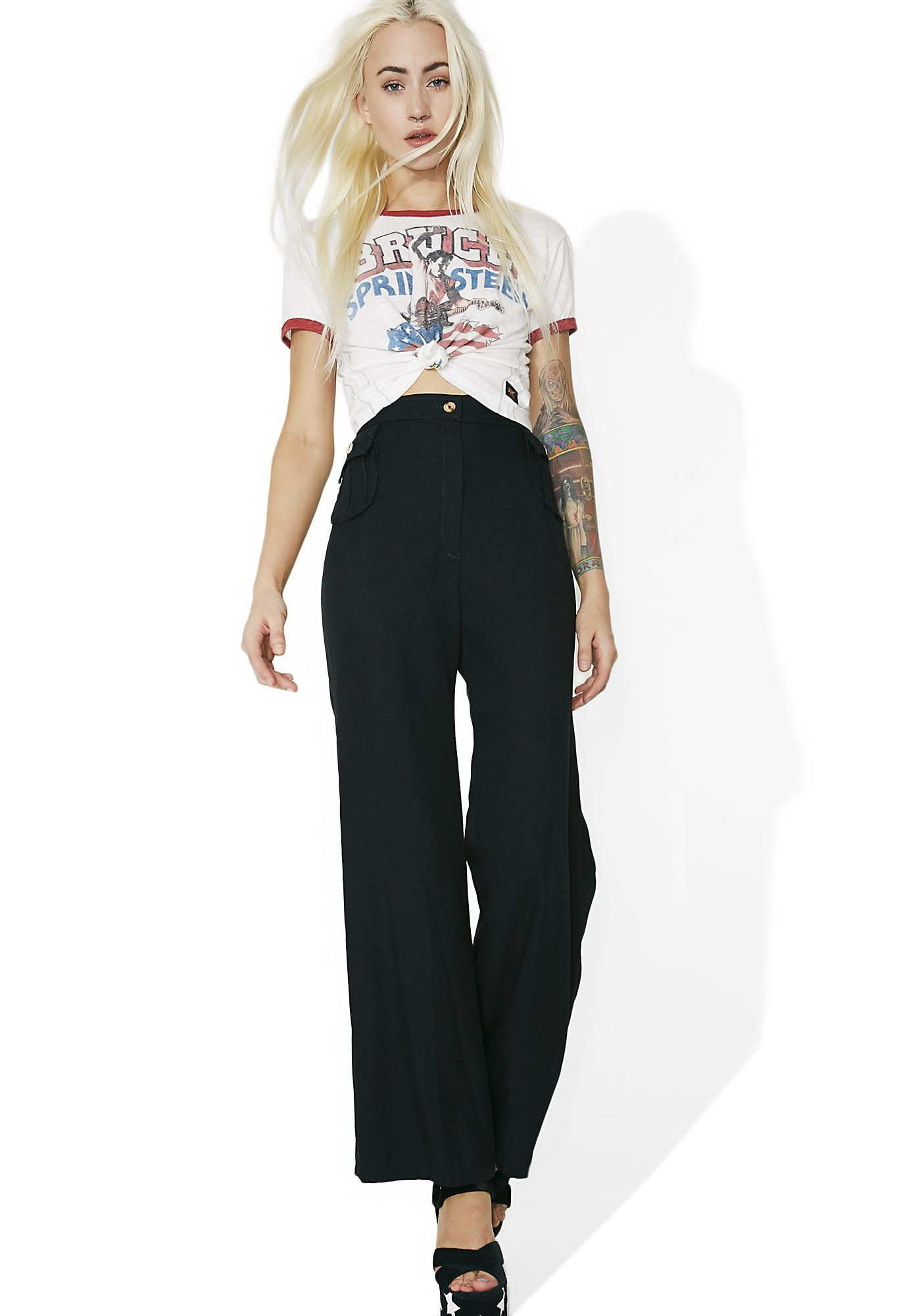 Vintage High Waisted Bell Bottoms