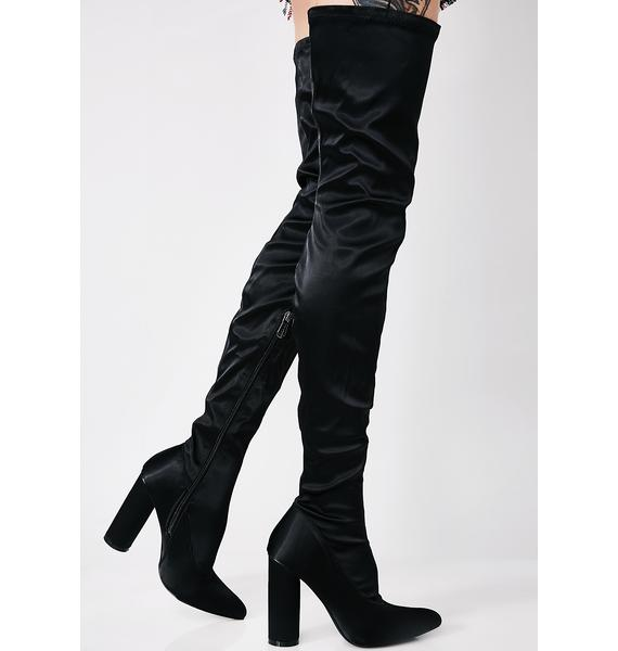 Silky Smooth Thigh-High Boots