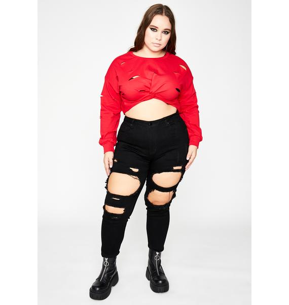 Total Riot Antics Crop Sweater