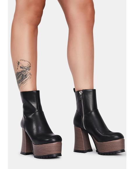 She's So Sassy Platform Boots