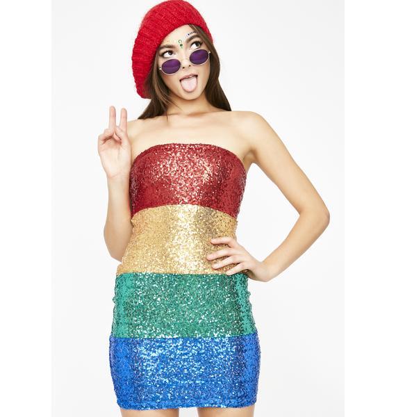 Trippy Flavor Sequin Dress