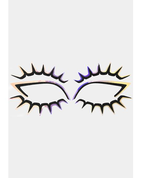 Psychedelash Eye Lace Face Stickers