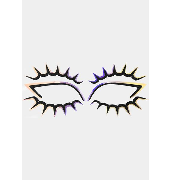 Face Lace Psychedelash Eye Lace Face Stickers