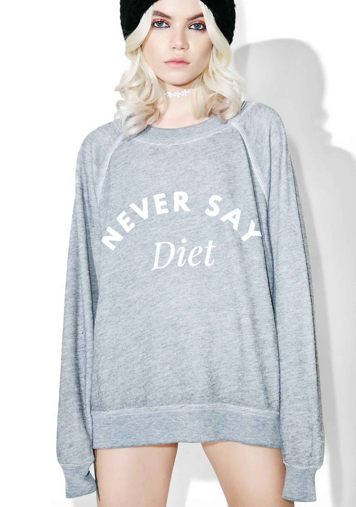 Wildfox Couture Never Say Diet Sommer's Sweater