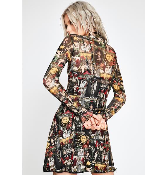 HOROSCOPEZ Divine Insight Mesh Dress