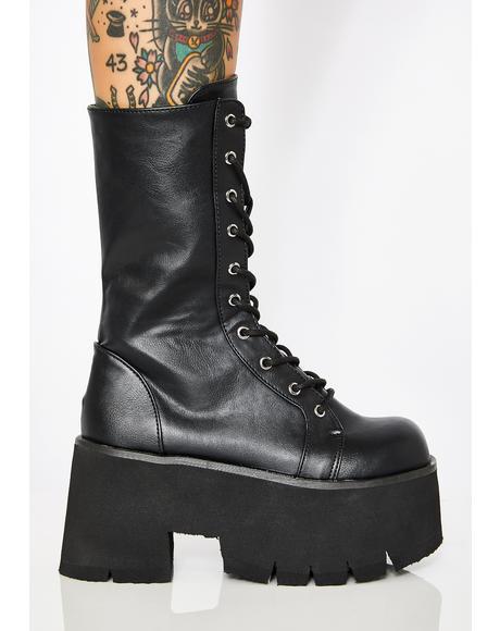 Sacred Ashes Platform Boots