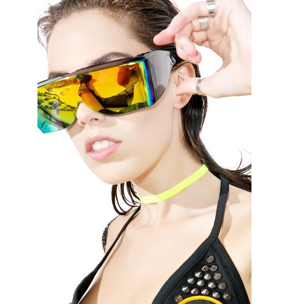 Trixy Starr Neon Velvet Choker