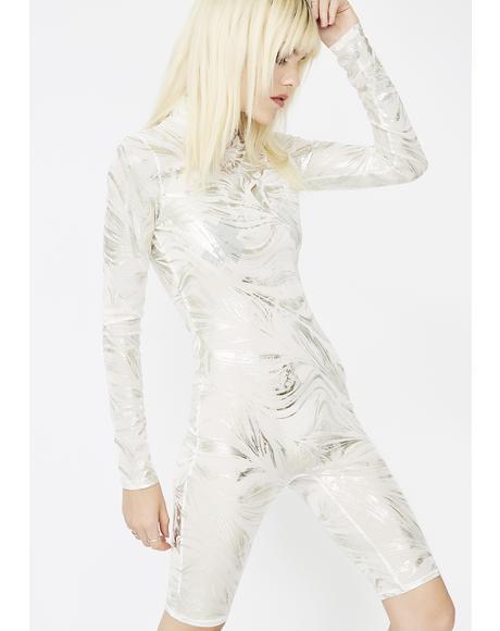 Silver Blaze Metallic Catsuit