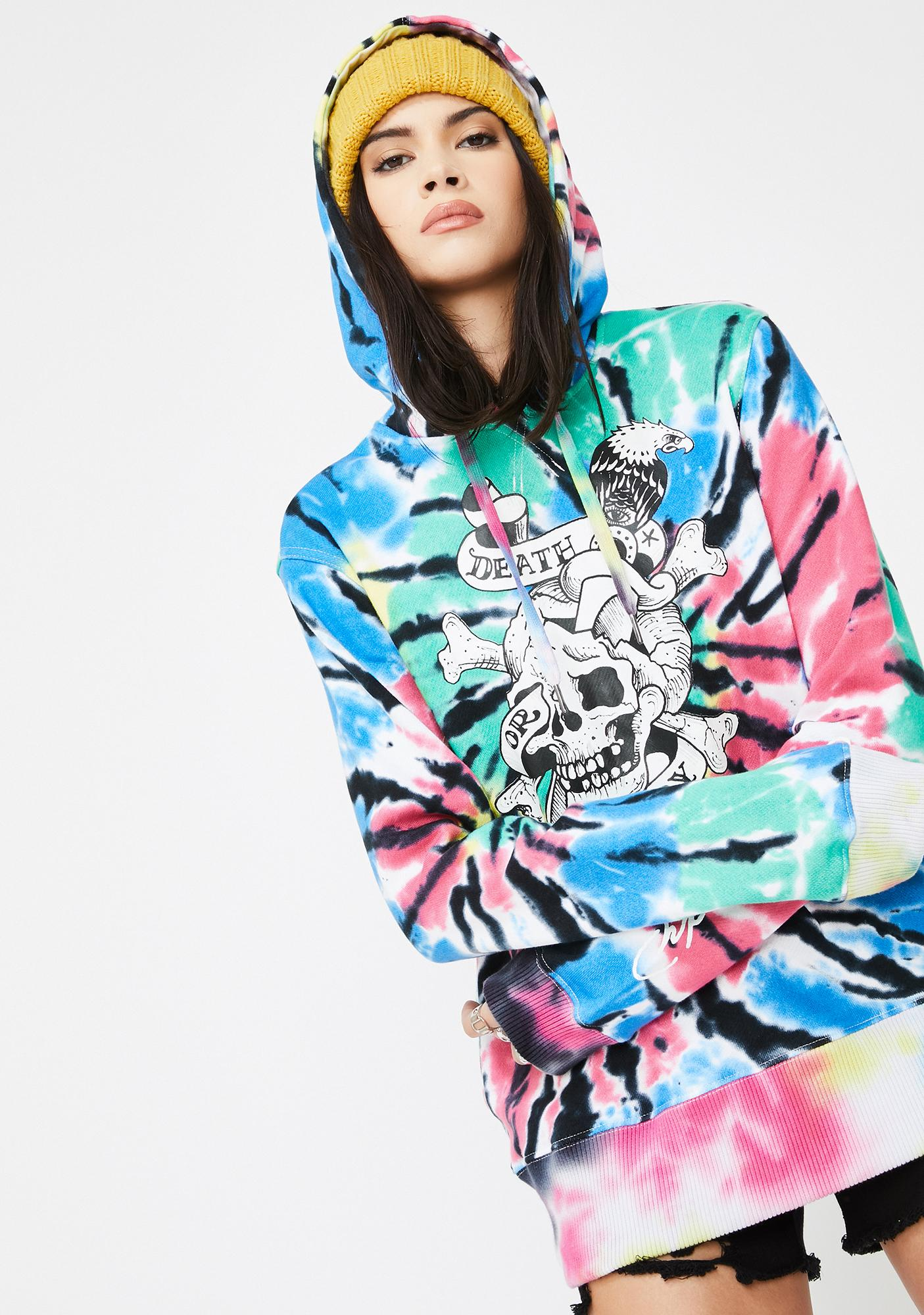 Ed Hardy By Appointment Only Tie Dye Hoodie