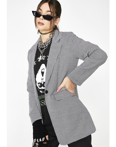 Catch A Clue Houndstooth Blazer
