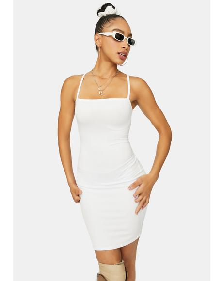 Angel Just Makes Sense Ribbed Mini Dress