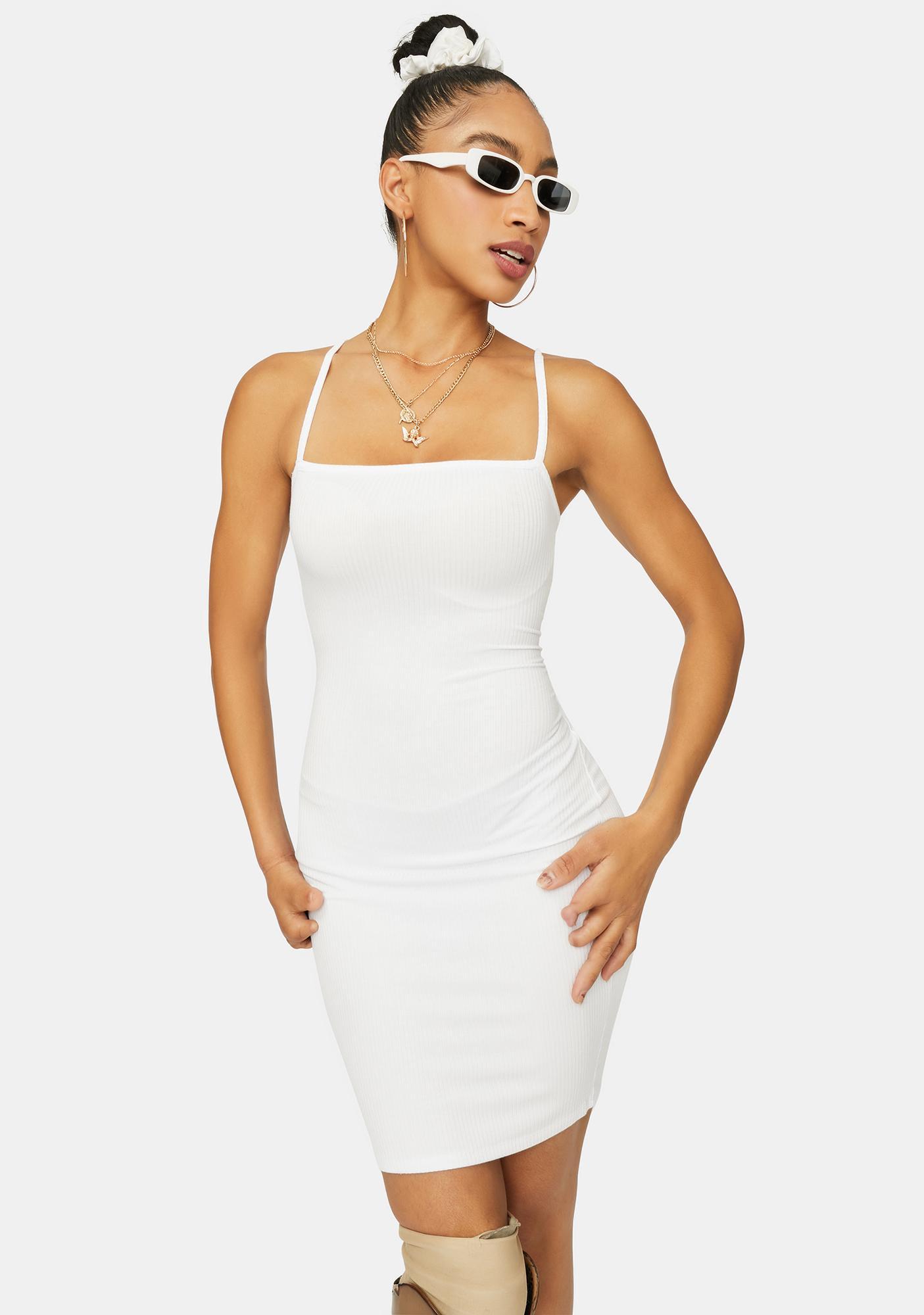 Angel Just Makes Sense Ribbed Mini Dress