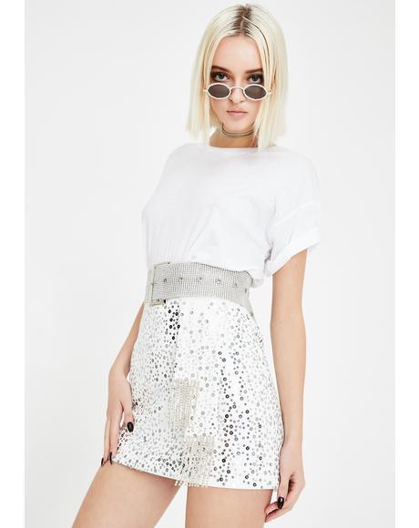 Disco Chic Mini Skirt