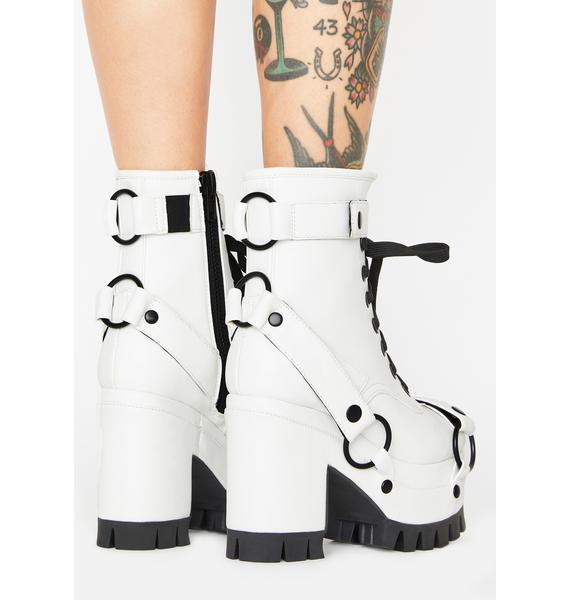 Club Exx Moonscape Mirage Platform Boots