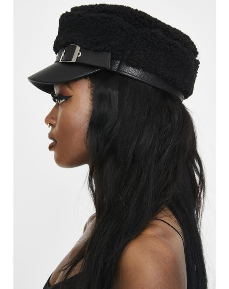 Dark Downtown Date Sherpa Hat