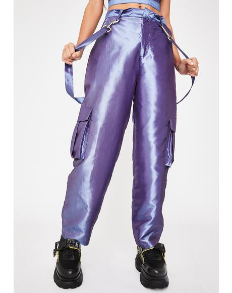 Glitch Metallic Cargo Pants