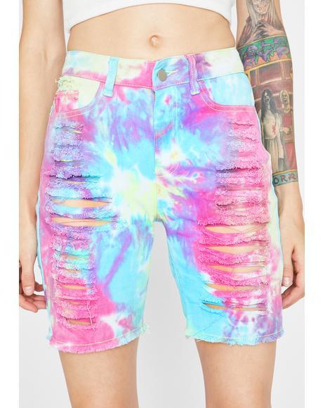 Acid Carnival Tie Dye Shorts