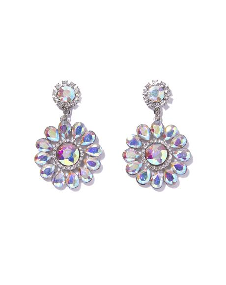 Flower Gurl Rhinestone Earrings