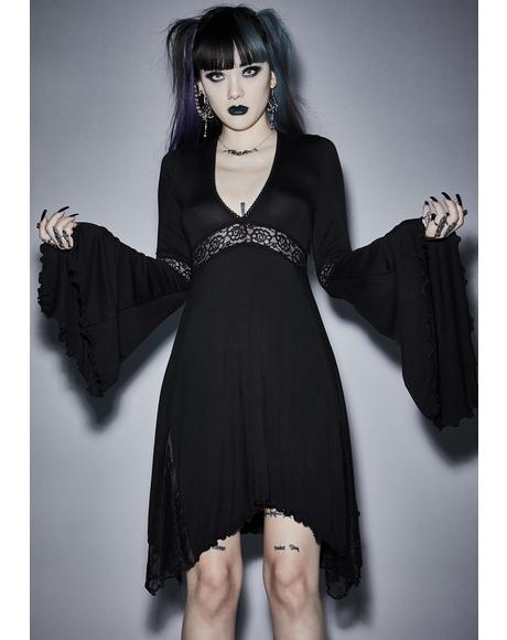 Funeral Parade Bell Sleeve Dress