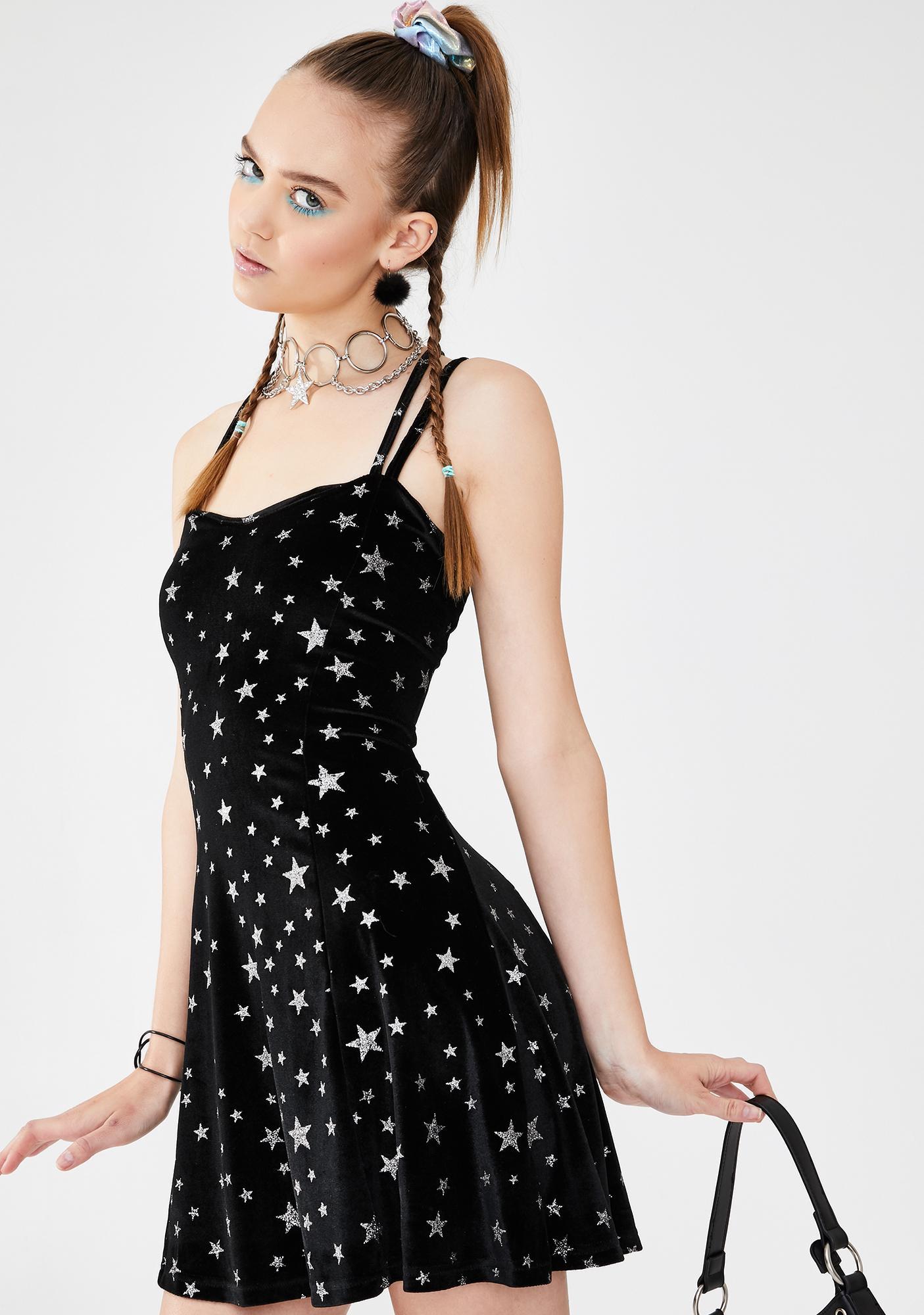 dELiA*s by Dolls Kill Celebrity Status Velvet Dress