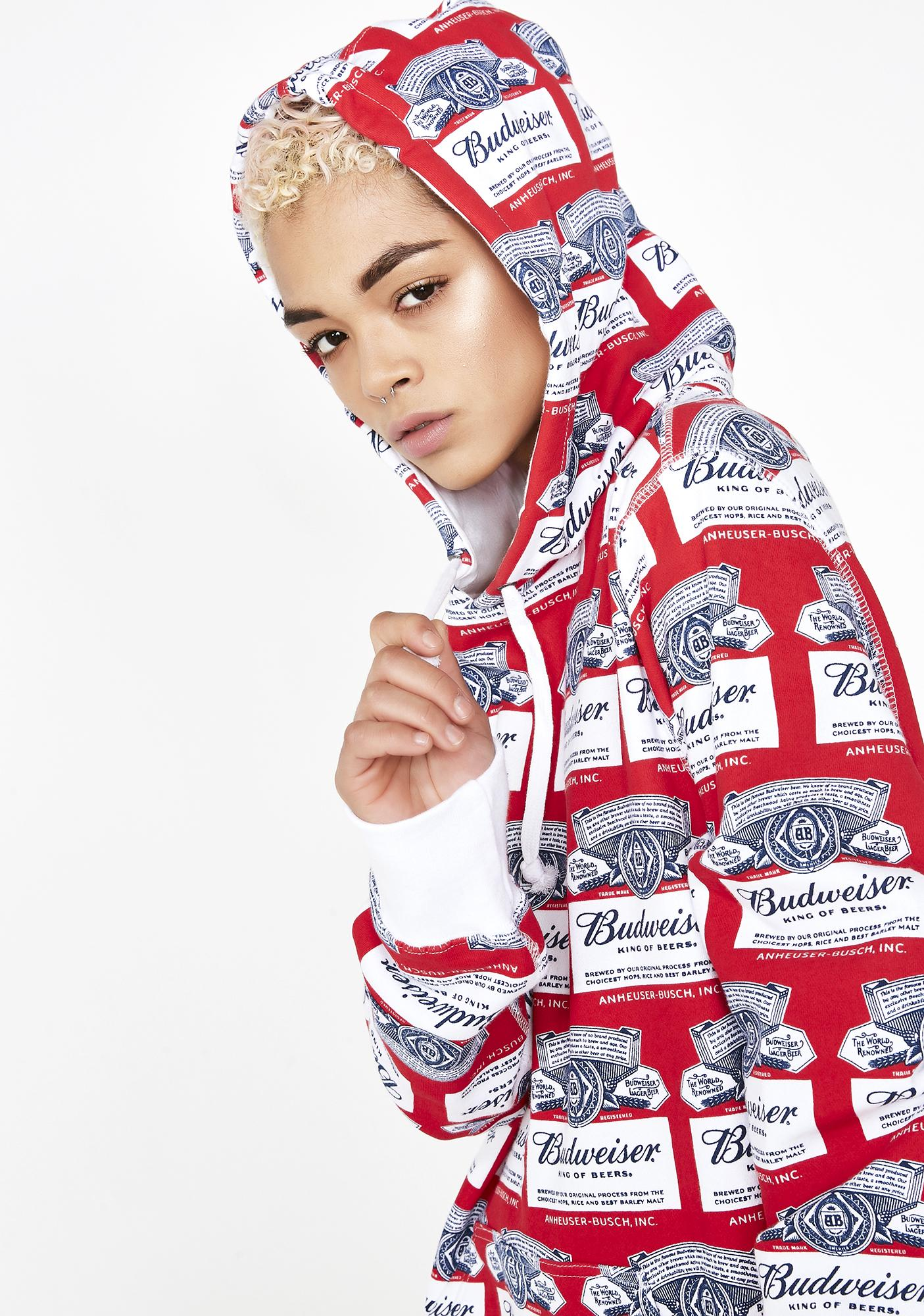 HUF x Budweiser Label Pullover Hoodie