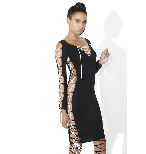 Side Effect Lace-Up Dress