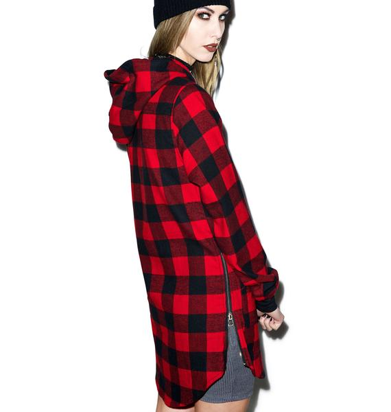 D9 Reserve Lumberjack Elongated Hoody