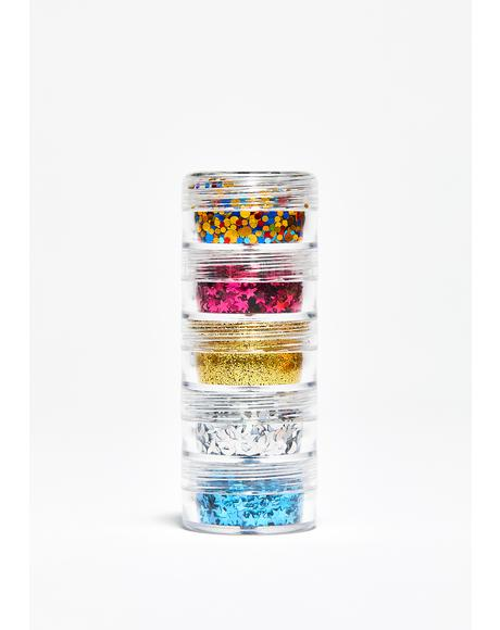 Goldie More Sparkly Than Dull Glitter Stack