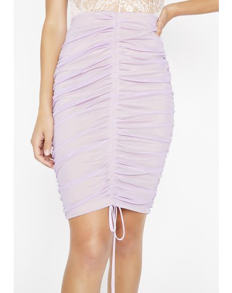 Lilac Kiss It Better Bodycon Skirt