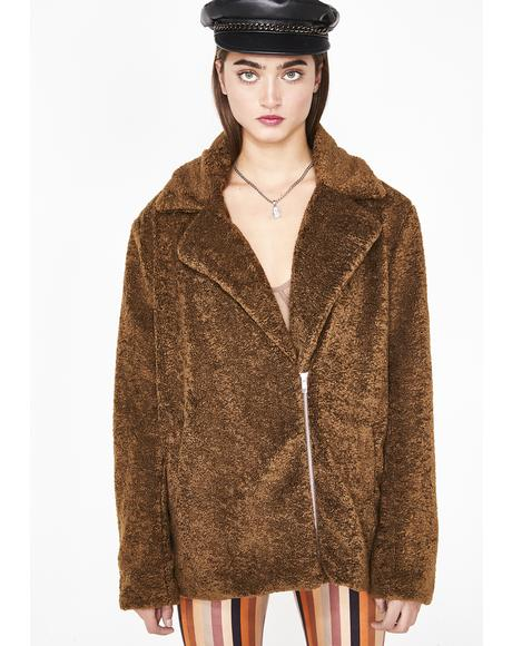 Whiskey Ginger Fuzzy Jacket