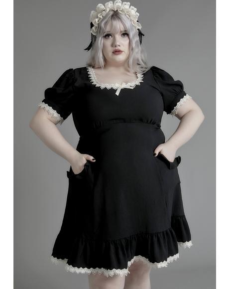 Her Porcelain Gaze Babydoll Dress