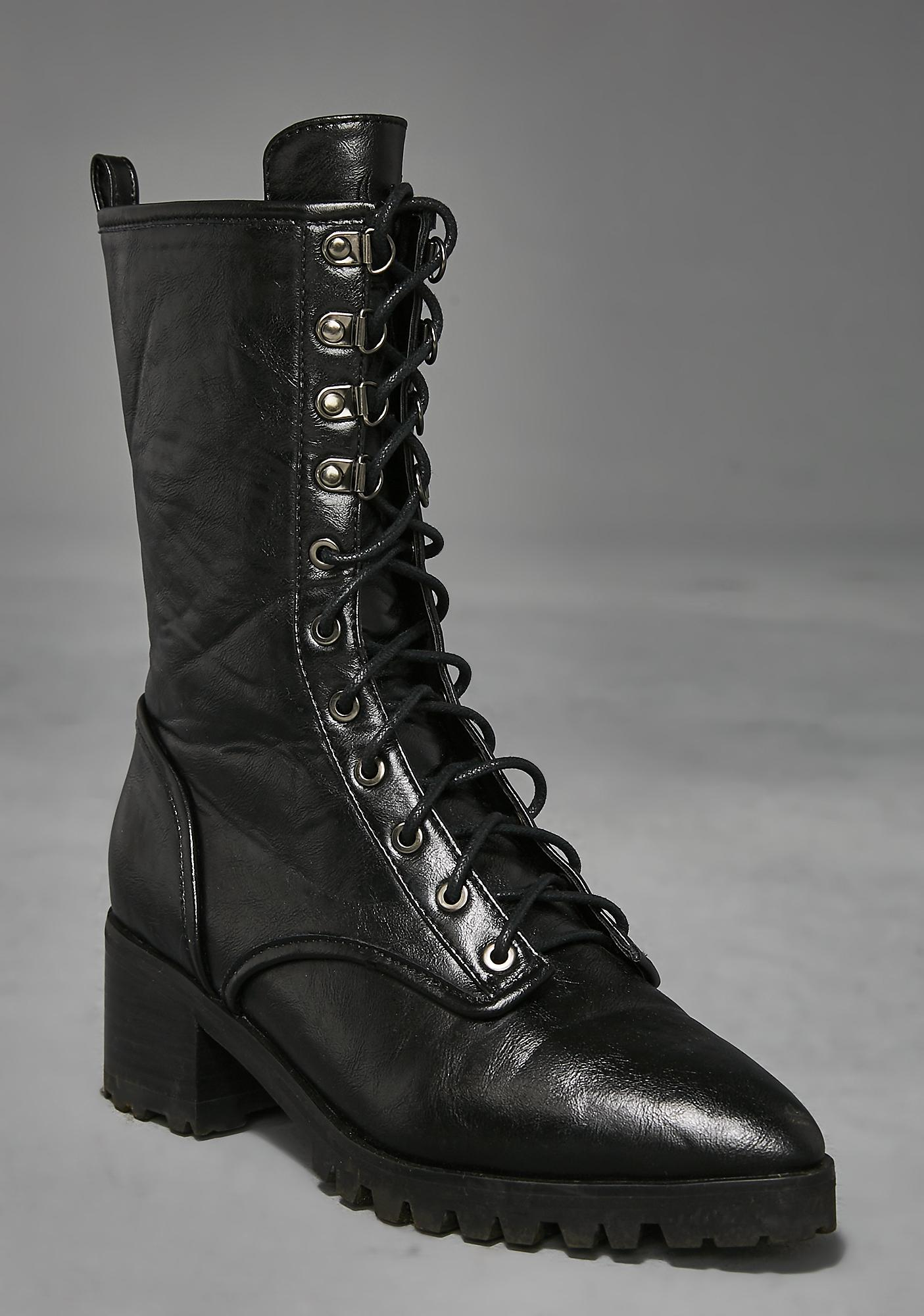 Widow Poison Pointy Combat Boots