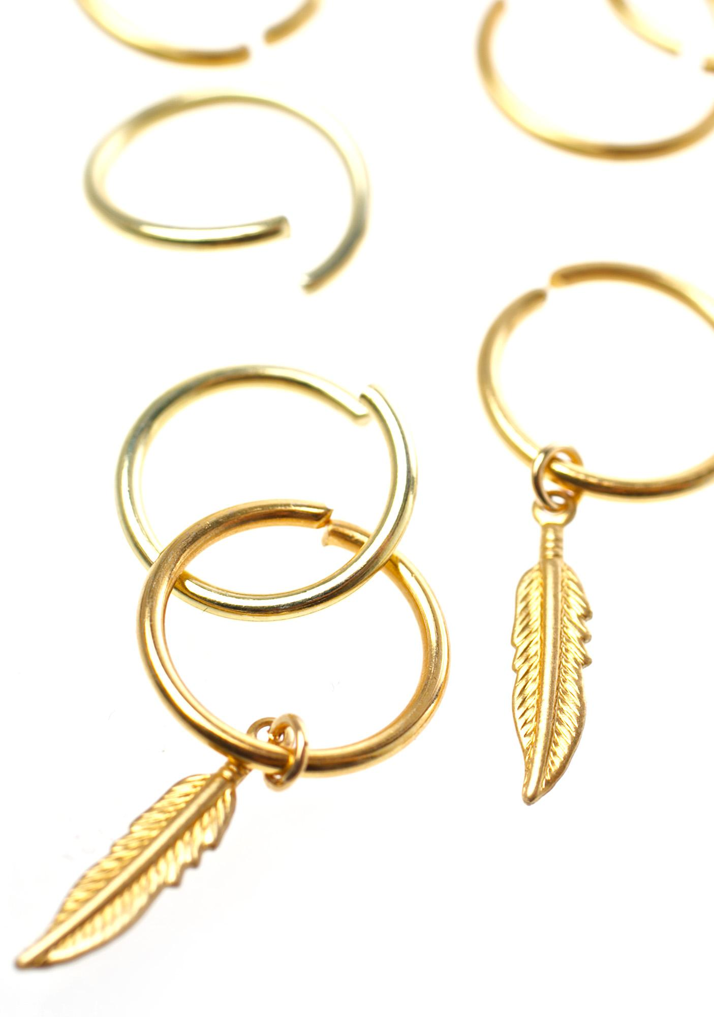 Aeon Feather Hair Rings