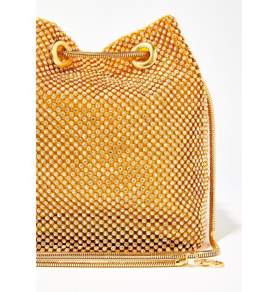 Golden Bling Empress Bucket Bag