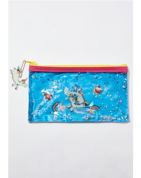 Bubbly Unicorn Pencil Case