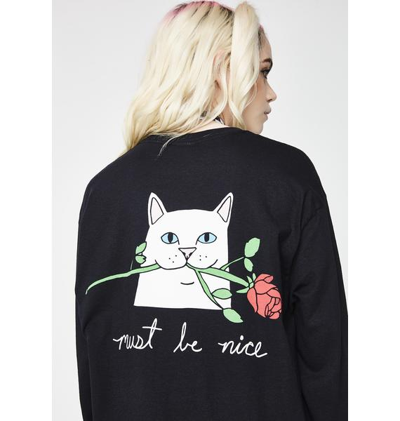 RIPNDIP Romantic Nerm Long Sleeve Tee