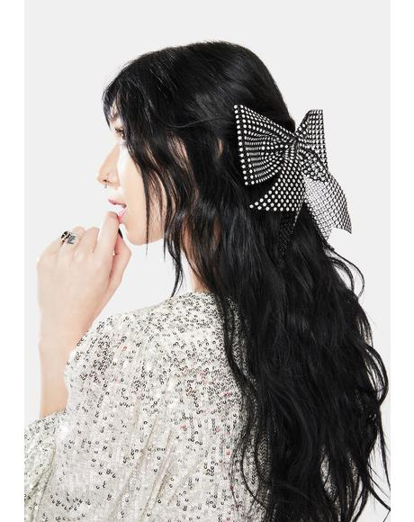 Pretty Poised Gingham Bow