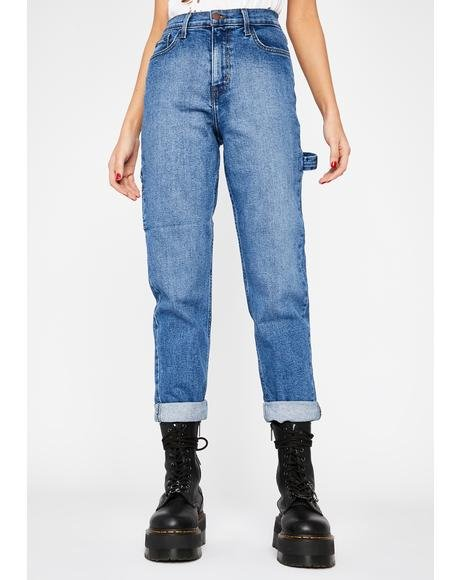 Indigo Rough Crowd Carpenter Jeans