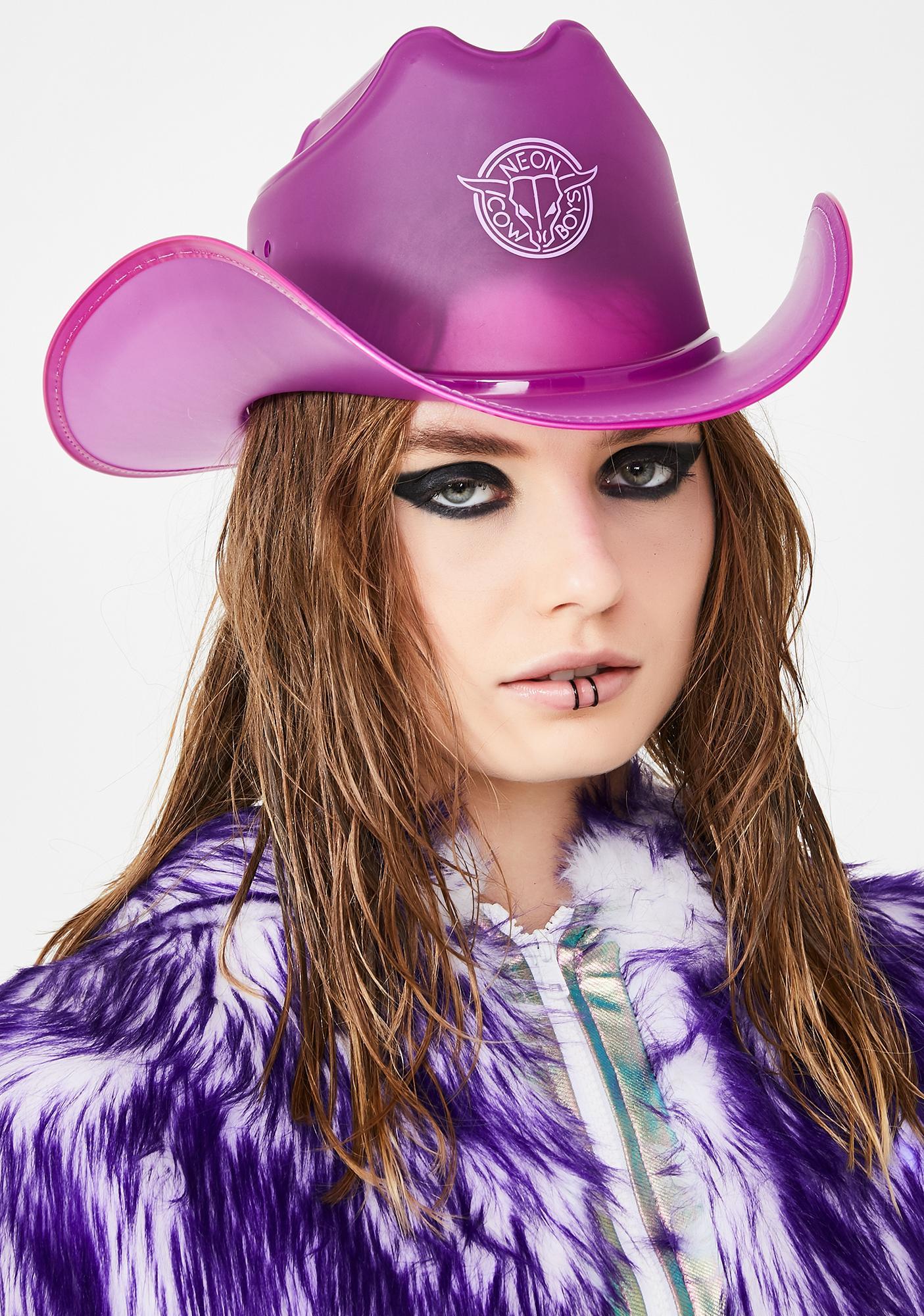c2e19b01b Fantasy Purple Light Up Cowboy Hat