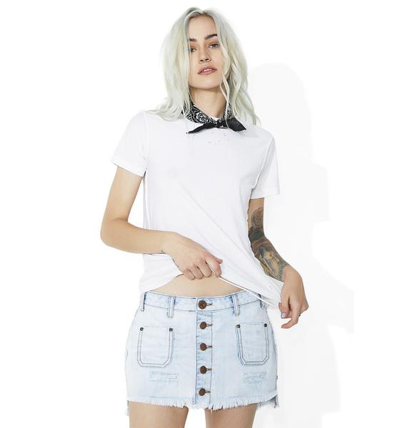 One Teaspoon Hamptons Le Cat Mini Skirt