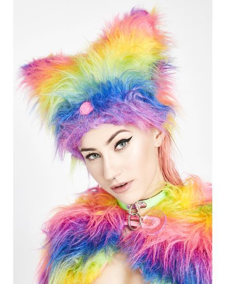 Rainbow Yeti Hat