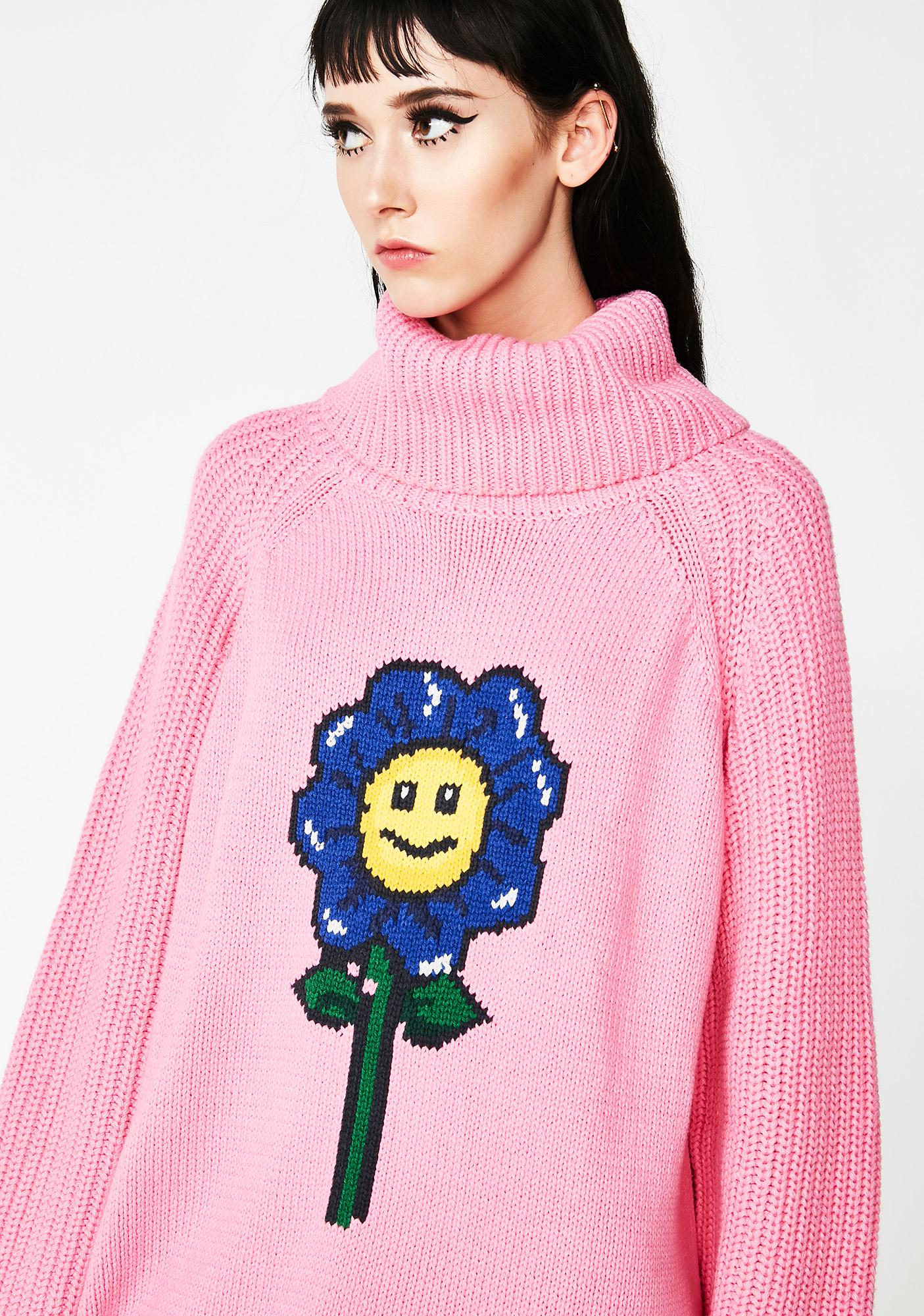 342e53b216 ... Lazy Oaf Flower Power Sweater Dress ...