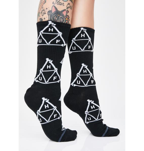 HUF Boner Triangle Crew Socks