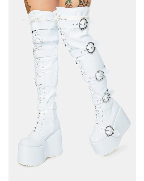 Pure Chance At Romance Knee High Boots
